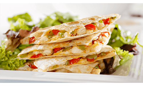 Chicken Cheese Quesadilla Healthy Lunch