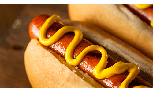 Healthy Stadium Food Hot Dog Mustard