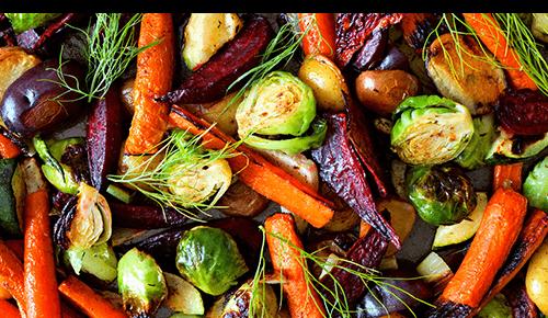 Rosemary Balsamic Roasted Vegetables