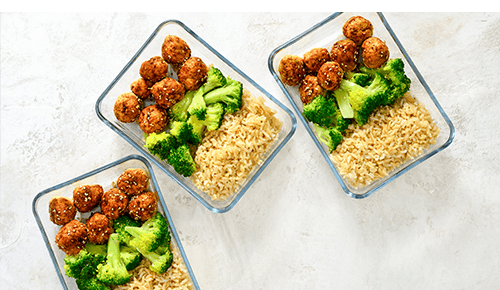 Smaller Meal Portions Protein Healthy Carbs