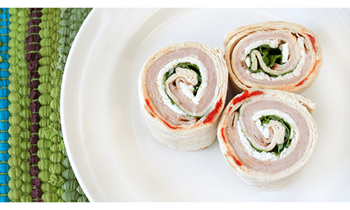 Turkey Swiss Spinach Pinwheel Sandwich Healthy Lunch