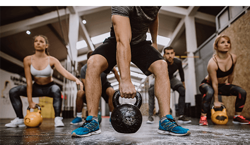CrossFit Kettlebell Workout Group