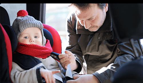Bundle Baby in Car
