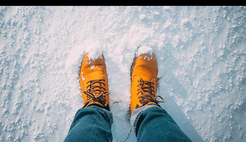 Wear suitable footwear for winter