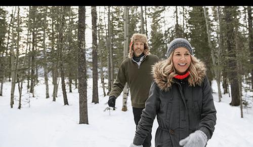 Couple Winter Hike