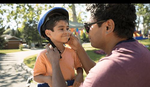 Boy Bike Helmet Safety