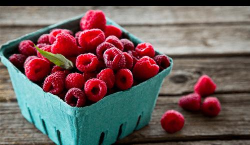 Raspberries Fruit Basket