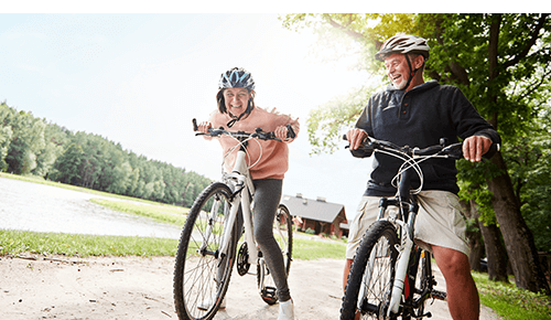 Couple Biking Exercise