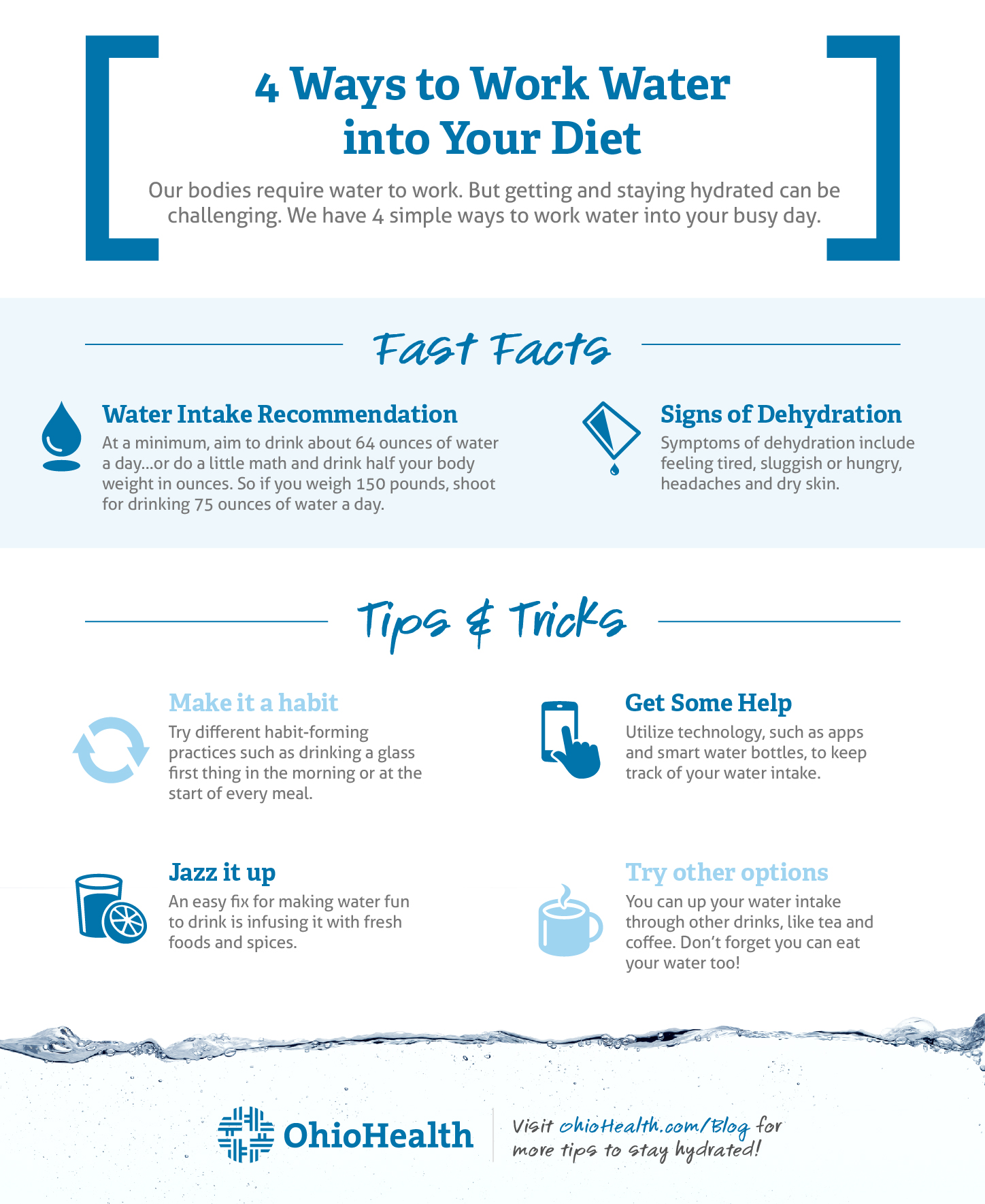 Ways to Work Water into Your Diet