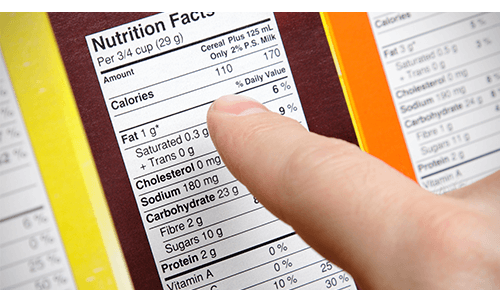 Top of Nutrition Label