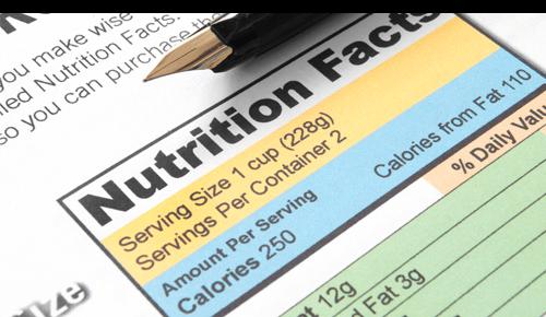 Serving Size on Nutrition Label