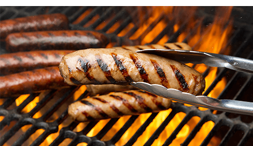 Cooking Meat on Grill