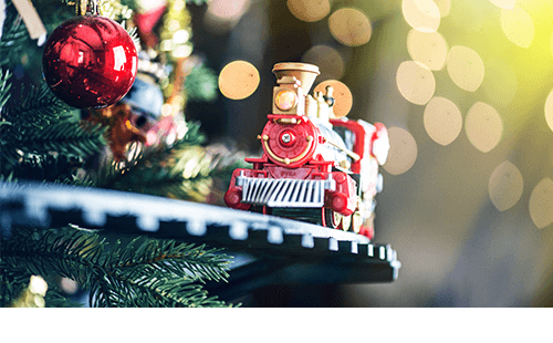 Holiday model train
