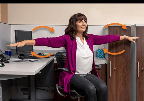 Desk Exercise Arm Circles