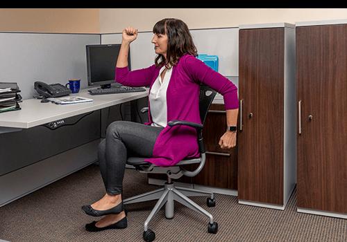Desk Exercise Walk Jog Warm Up