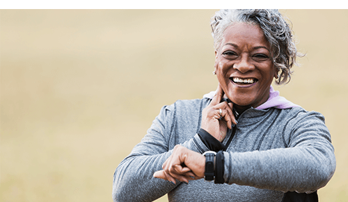 Older Woman Leading Active Lifestyle Exercise
