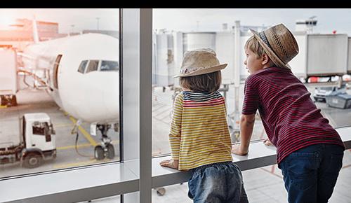 Family Airplane Trip