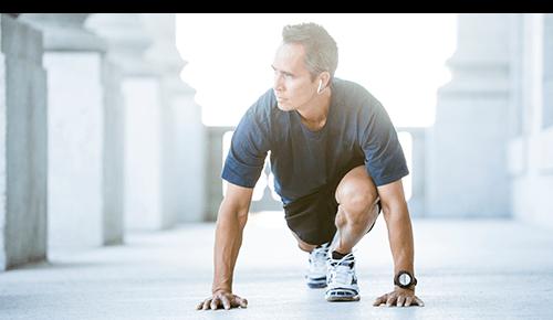 Runner Exercising Hips