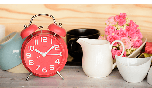 Small Clock on Table