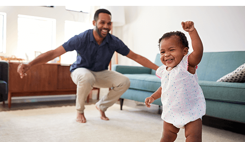 Dad and Baby Dance Party