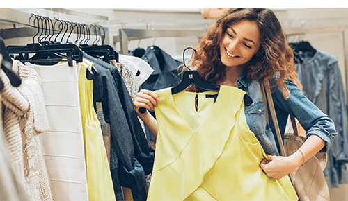Woman Shopping for New Clothing