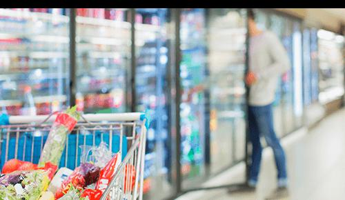 Freezer aisle food store