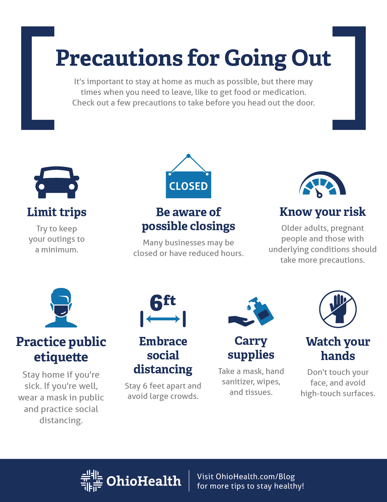 COVID-19 Precautions for Going Out