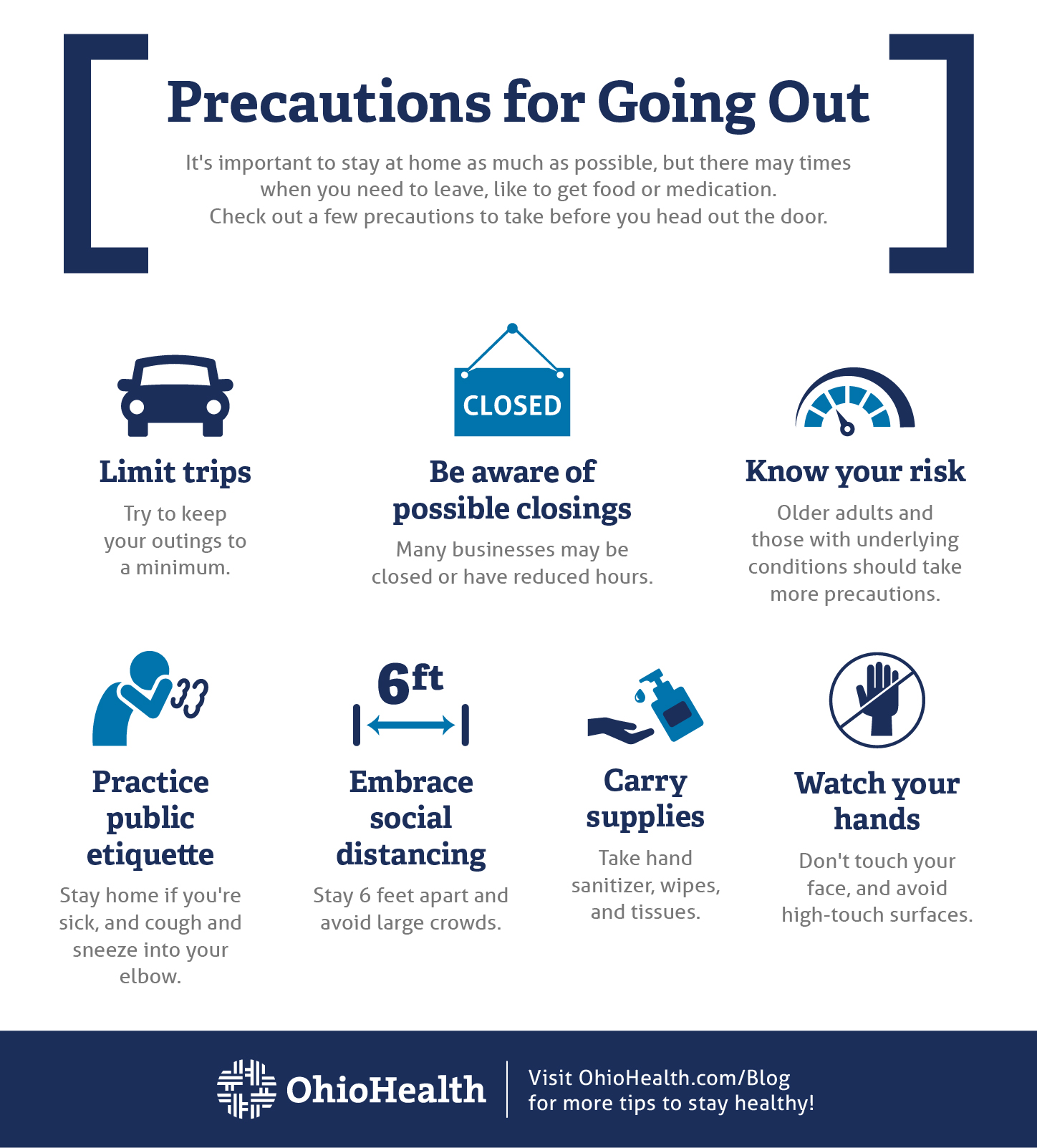 COVID-19 Precautions for Going Out Infographic_Updated 3.3