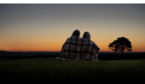 Couple Looking at Stars