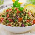 Bowl of Grilled Pepper Quinoa Salad