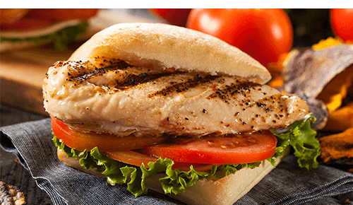 Healthy Stadium Food Grilled Chicken Sandwich