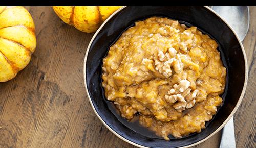 Bowl of pumpkin oatmeal