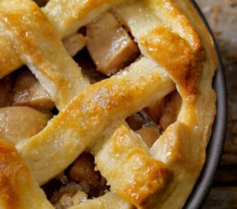Closeup of an apple pie