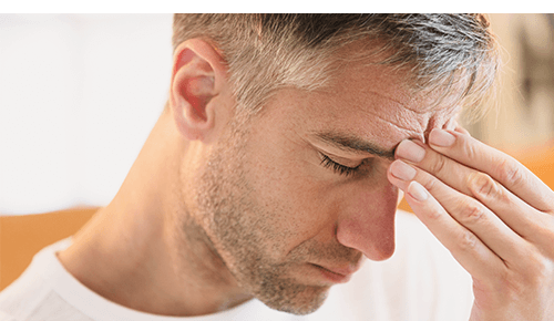 Man with Severe Headache