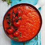 Pot of tomato pasta sauce