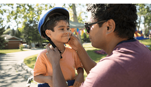 Boy Bike Helmet Safety