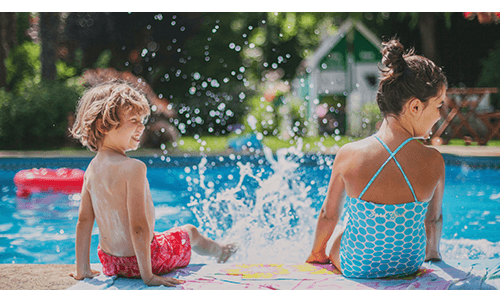 Summer Children Pool Water Safety