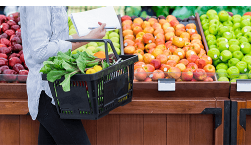Save at the grocery store on organic produce