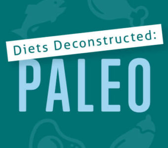 Infographic that says Diets Deconstructed: Paleo
