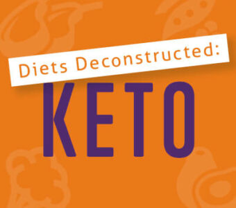 Infographic with text that says Diets Deconstructed: Ketogenic