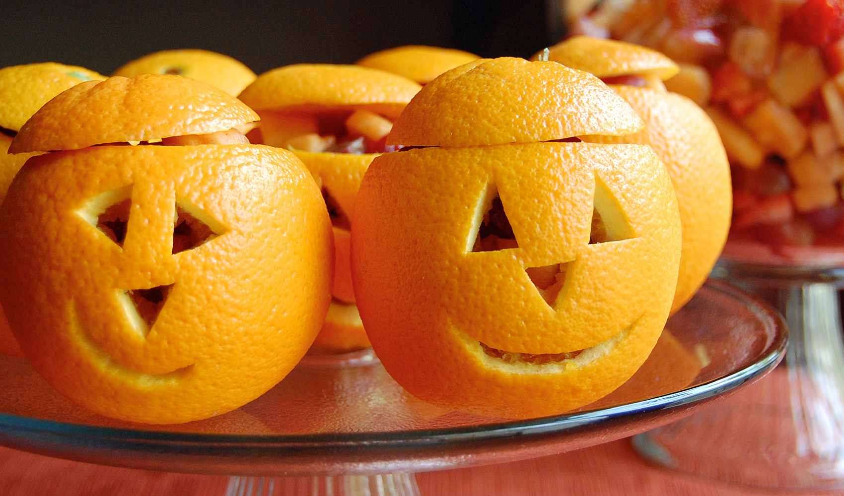 Snack O' Lantern Fruit Cups