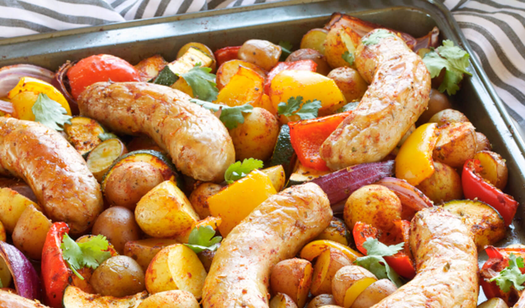 Italian Sausage Sheet Pan Dinner