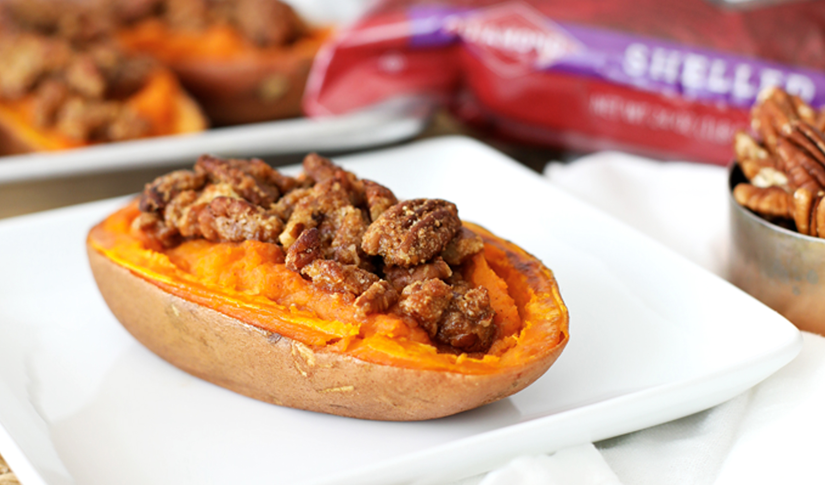 Maple Pecan Twice Baked Sweet Potato