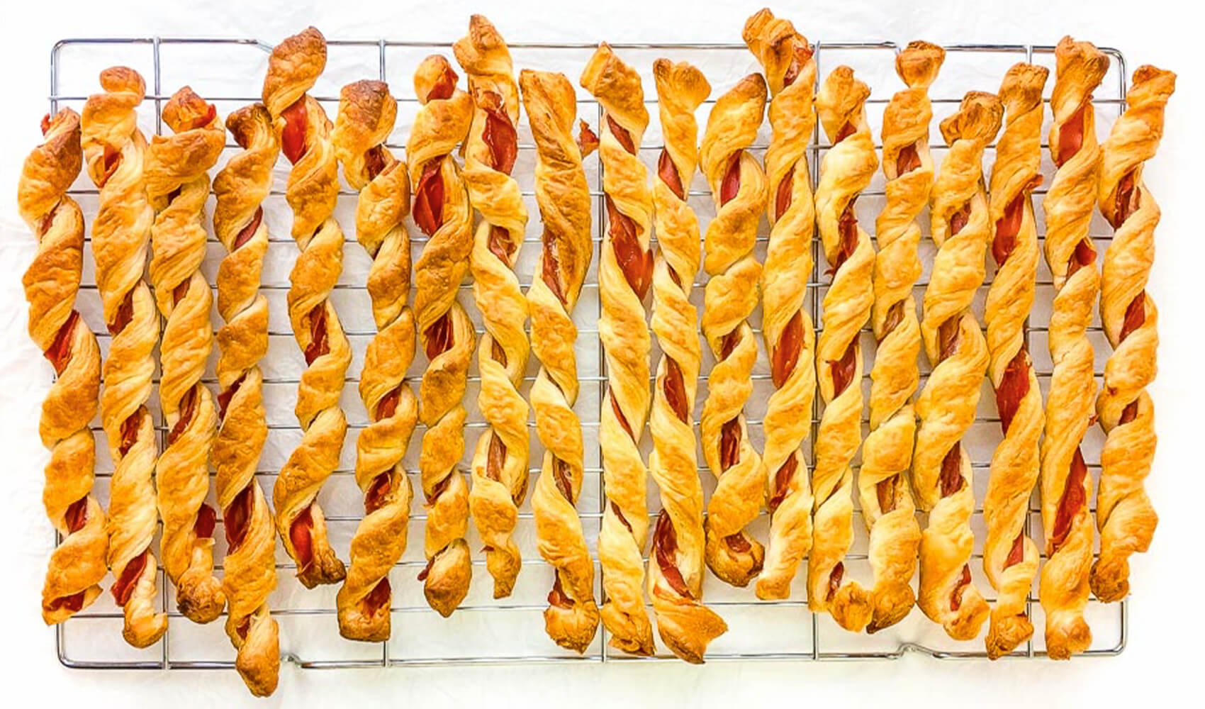 Savoury Prosciutto Puff Pastry Twists