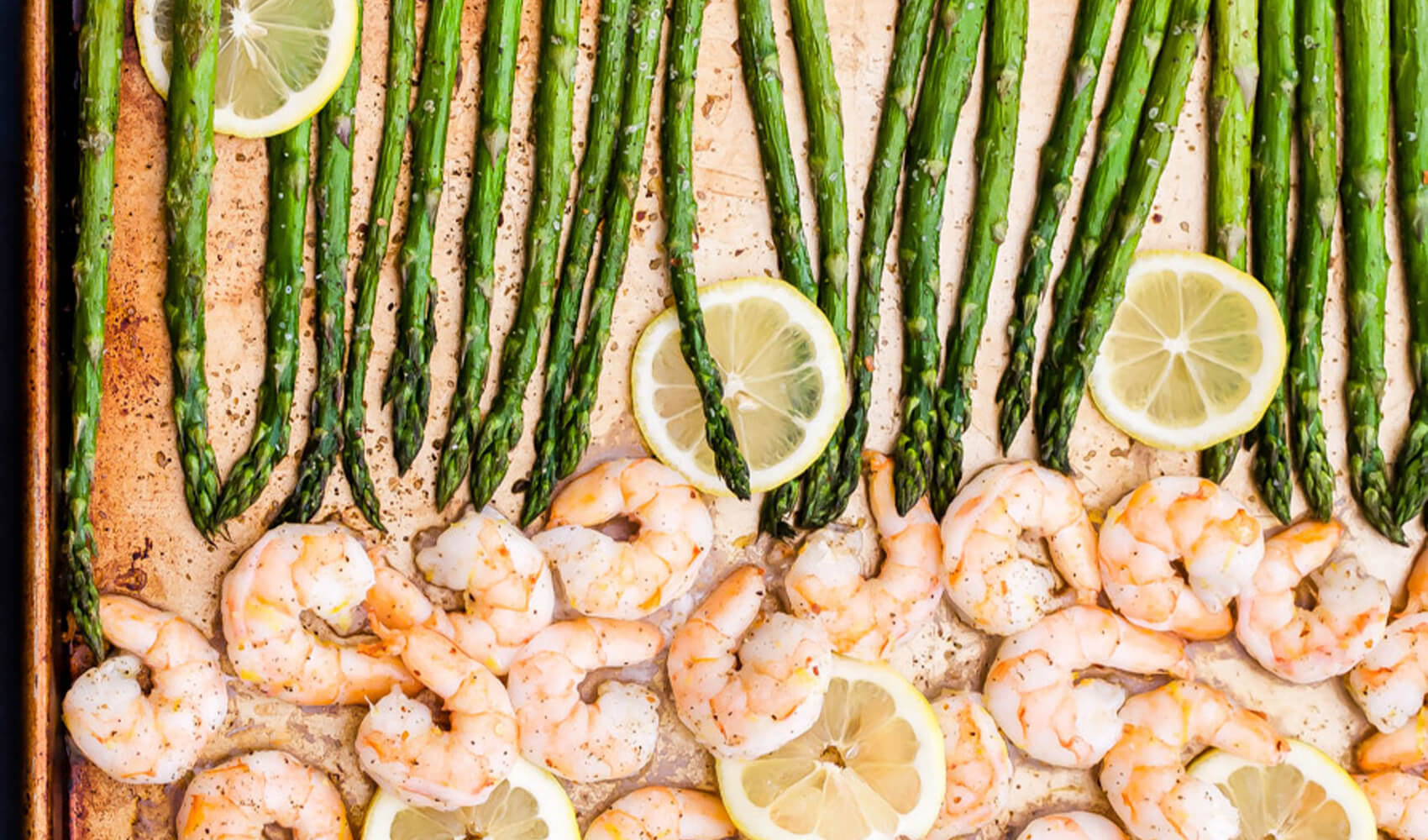 Sheet Pan Lemon Roasted Shrimp and Asparagus with Herbed Couscous