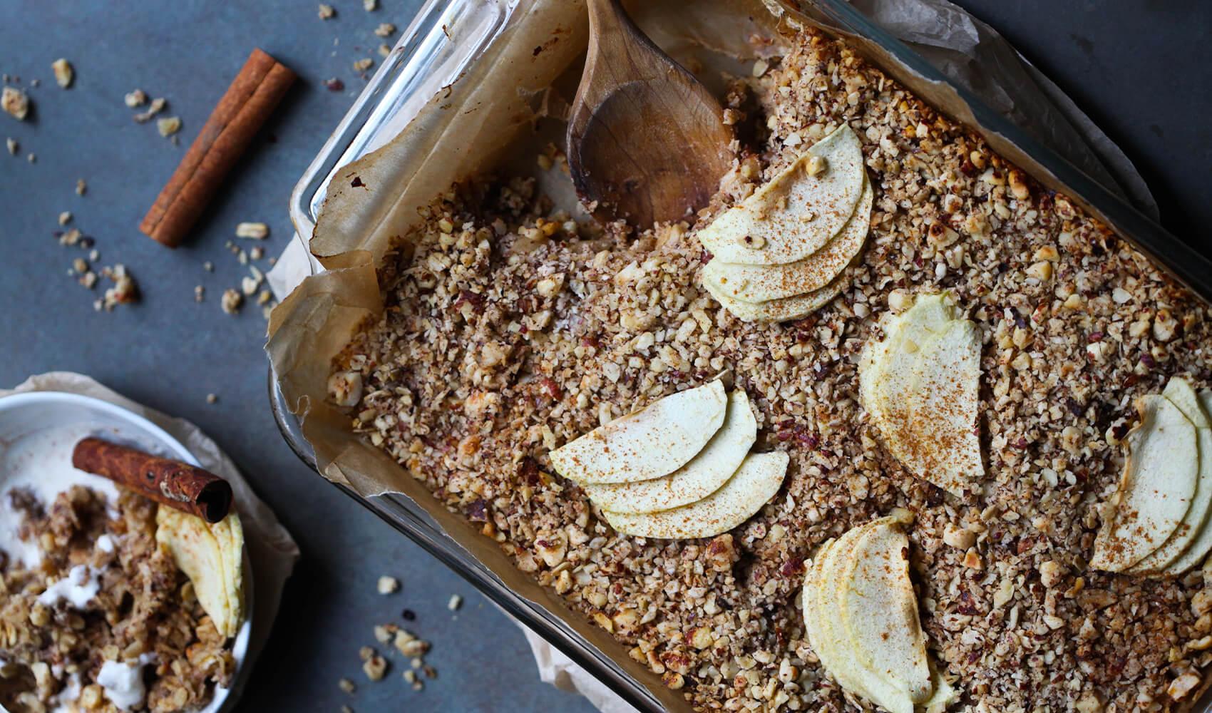 Apple Cinnamon Hazelnut Breakfast Bake