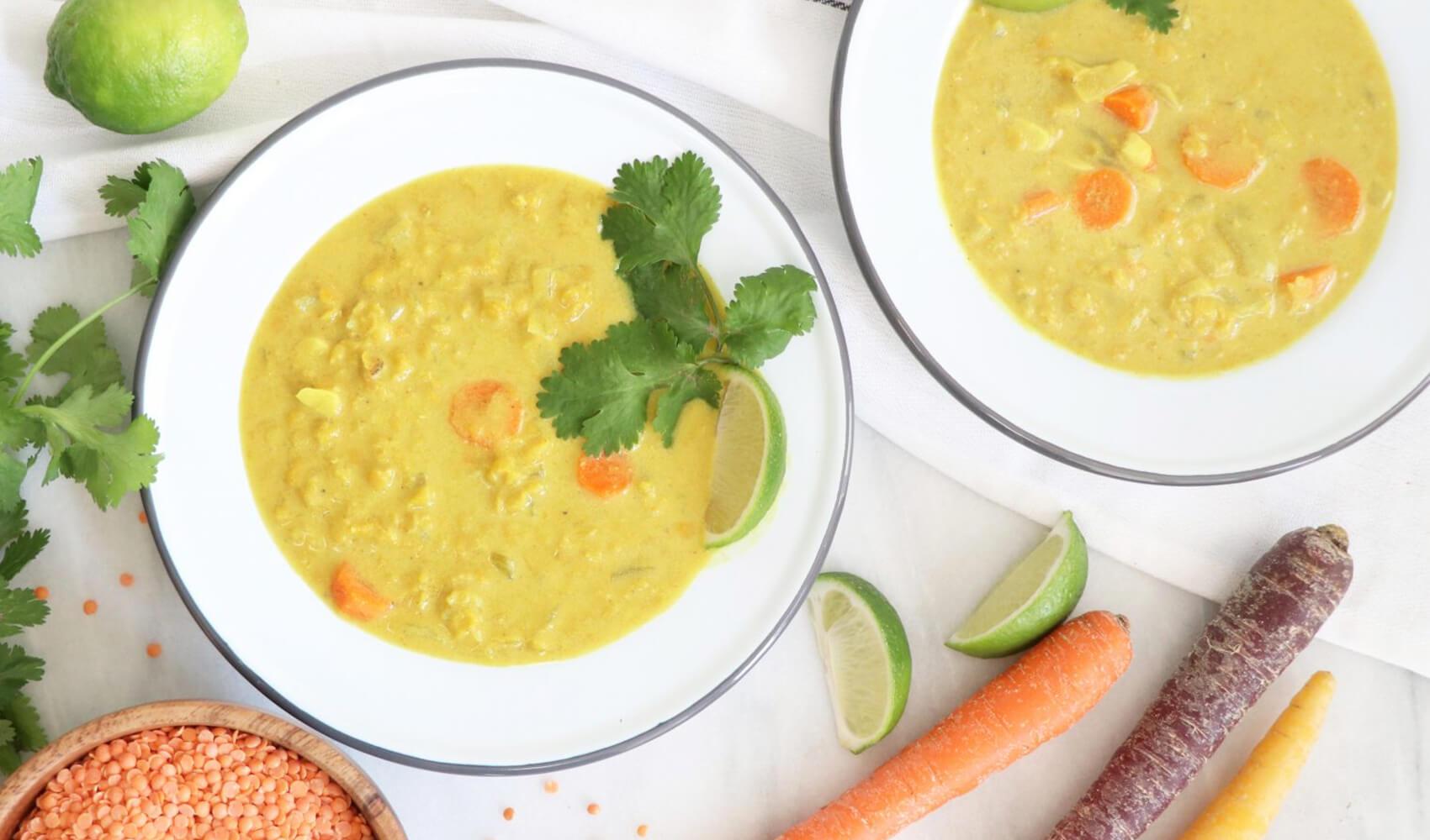 Coconut Lentil Turmeric Soup