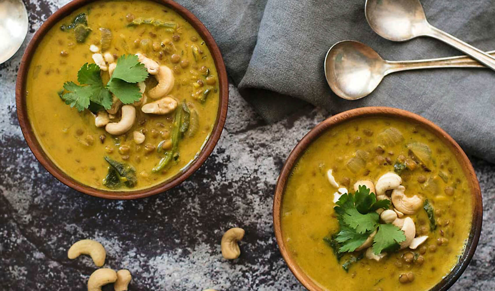 Curry Lentil Soup with Coconut Milk