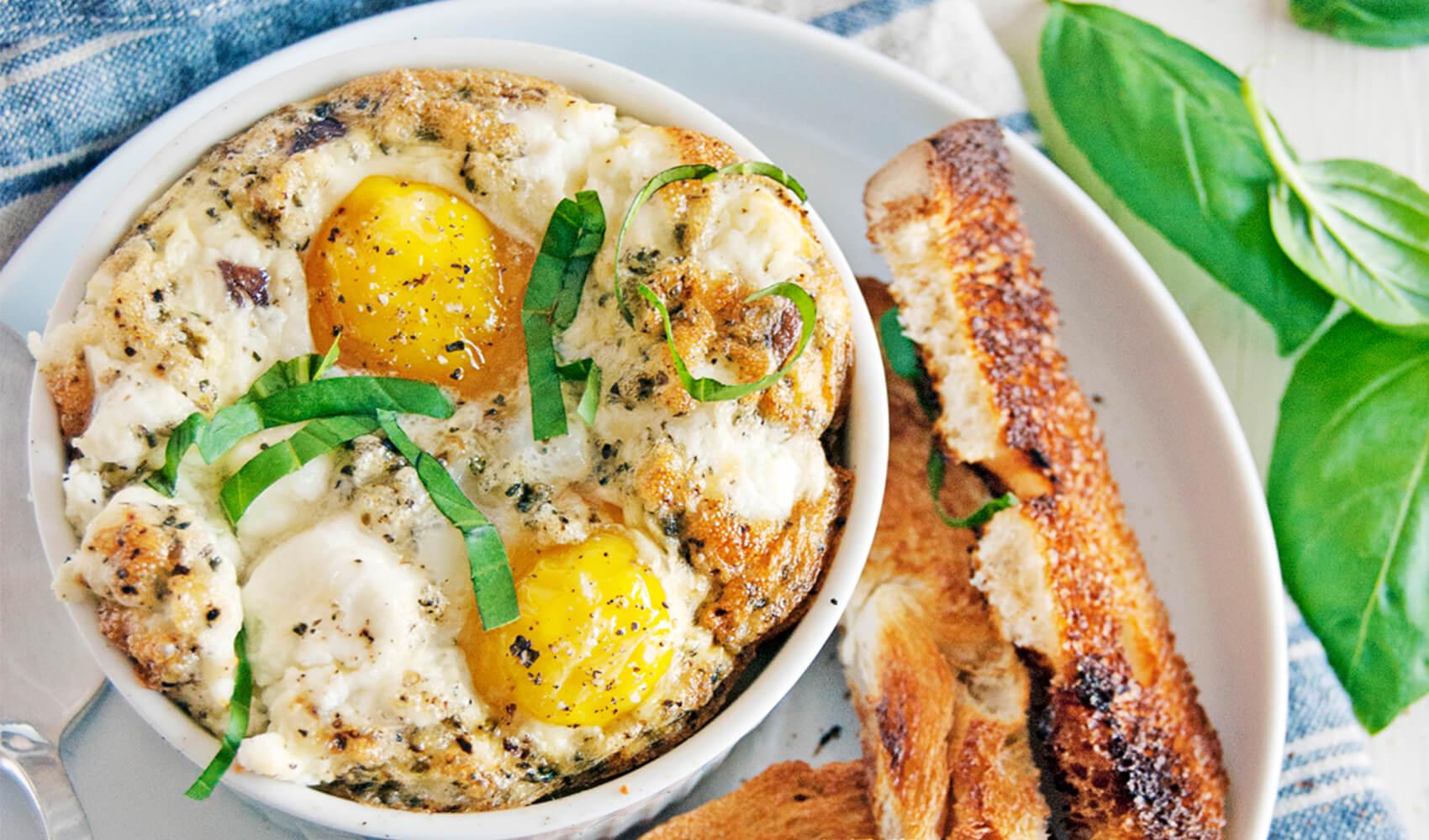 Mushroom & Shallot Egg Bakes