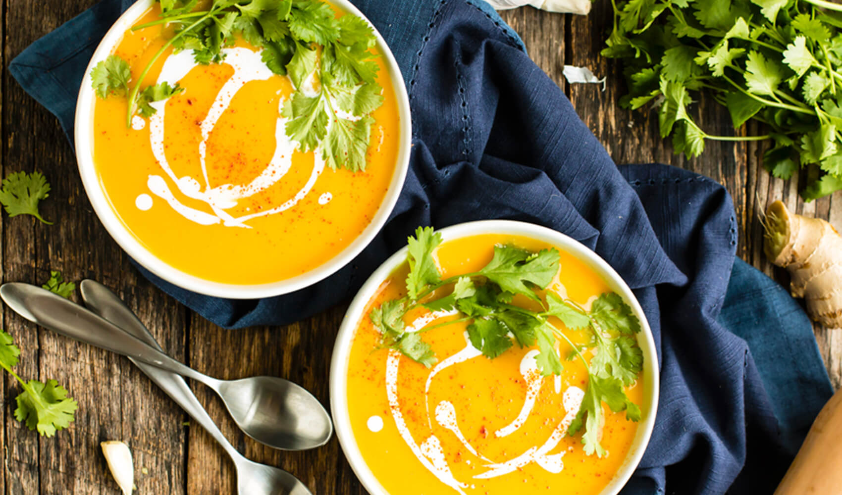 Roasted Butternut Squash Soup with Coconut Milk